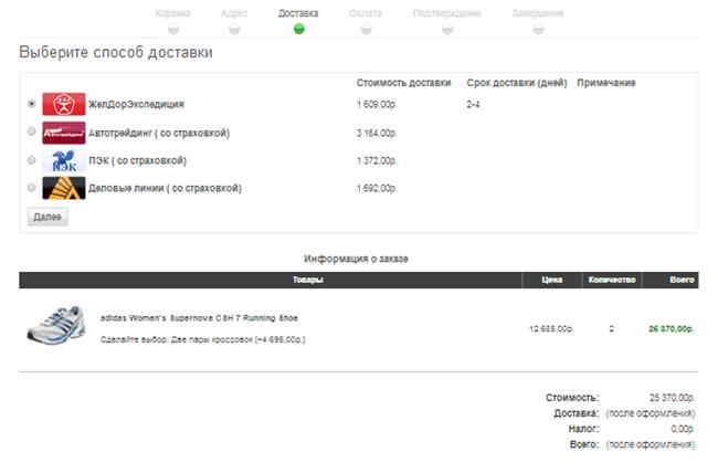 Изображение nopCommerce  Edost.ru Plugin