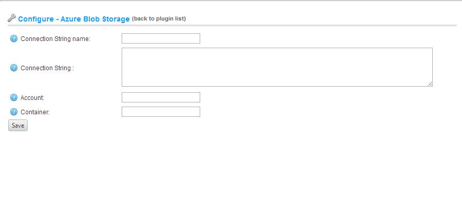Azure Blob Storage plugin