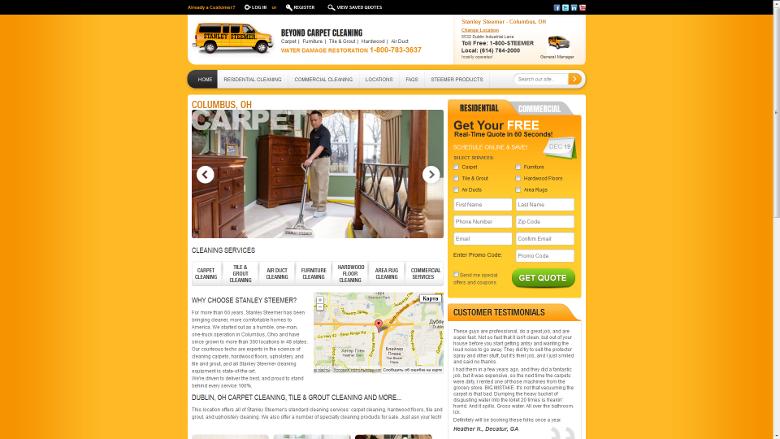 Stanley Steemer Website